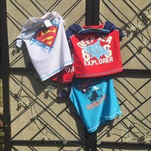 Other - Sun alert Rash shirts boys rash guard lot of 4
